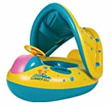 Inflatable Baby Kids Float Seat Swimming Boat Ring Adjustable Sunshade Protect