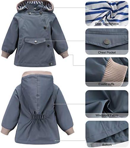 ACESTAR Waterproof Rain Jacket Coat with Reflective Strips Windbreaker Windproof Spring Fall Raincoat