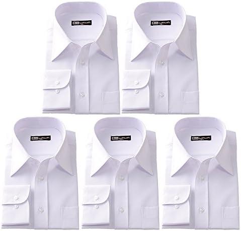 (ワワジャパン)WAWAJAPAN R-2×5 メンズ長袖ワイシャツ(スリムタイプ・レギュラーカラー)