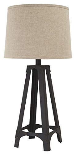 Signature Design by Ashley -  Satchel Metal Table Lamp - Industrial - Brown (Mesa Mission Table Lamp)