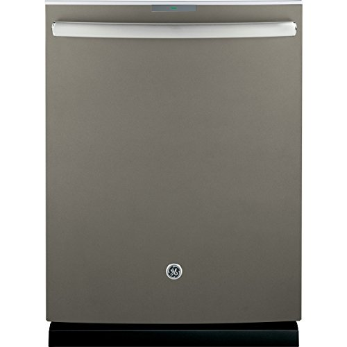 "GE Profile Series 24"" Tall Tub Built-In Dishwasher with Stainless Steel Tub Slate PDT750SMFES"