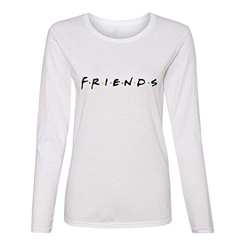 Graphic Crew Neck Sweatshirt - AEURPLT Womens Teen Girls Friends TV Show T Shirts Long Sleeve Crew Neck Casual Fall Graphic Pullover Tops