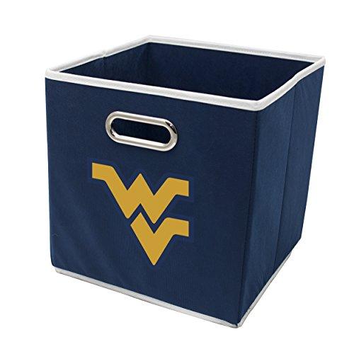 Franklin Sports West Virginia Mountaineers Collapsible Storage Bin - Made to Fit Storage Bin Shelf Organizers - 10.5
