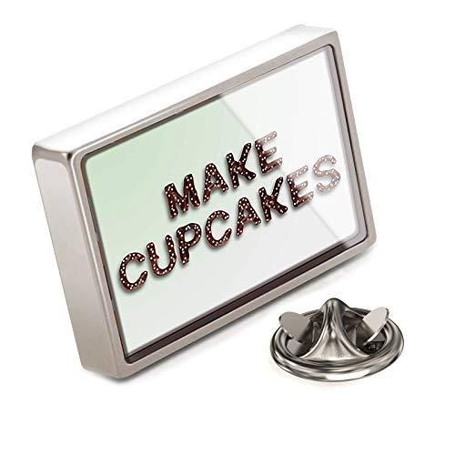 - NEONBLOND Lapel Pin Make Cupcakes Chocolate Fudge Sprinkles