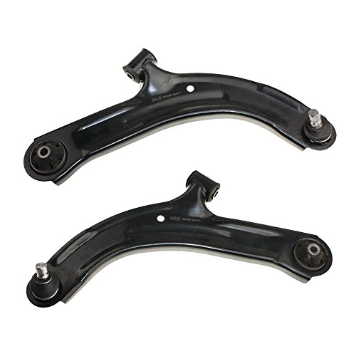 Suspension Plate Front Lower (2PC Complete Control Arm Front Lower Suspension Kit w/ Ball Joints for Nissan 2009-2013 Cube & 2007 2008 2009 2010 2011 2012 Versa)