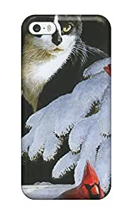 Iphone Cover Case - Cat Looking At Birds Protective Case Compatibel With Iphone 5/5s by icecream design