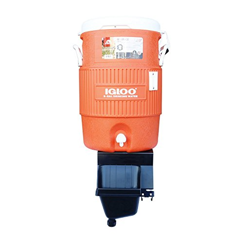 Igloo 5-Gallon Heavy-Duty Beverage Cooler, Orange & Ultimate Drip Catcher Set - Black - Catch All Your Drips, Seeps, Leaks Accidental Pours! by Igloo (Image #2)
