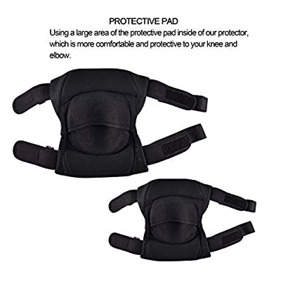 Protective Knee Pads,Heavy Duty Foam Padding Sponge Knee Pads Protector High Elastic Anti-Slip Collision Avoidance Knee Sleeves for Skateboarding Skating Cycling Biking and Other Sport(M-For Children): Automotive
