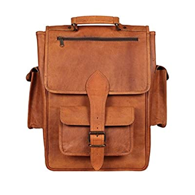9421c93cc0db best Vintage Crafts Leather Handmade Vintage Style backpack/College ...