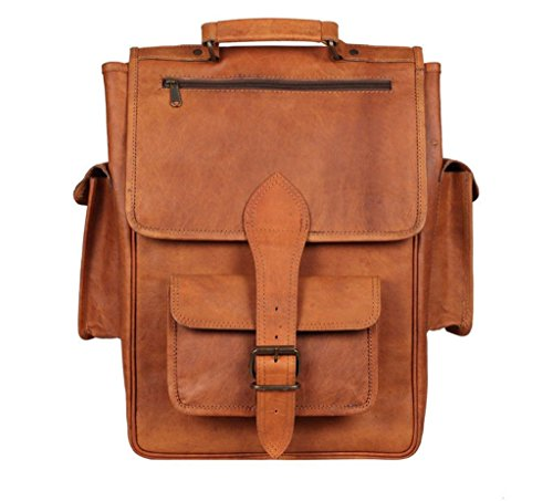 Christmas Deals Vintage Bag Leather Handmade Vintage Style Backpack/College Bag Rucksack with large Pockets (Convert Leather Backpack)