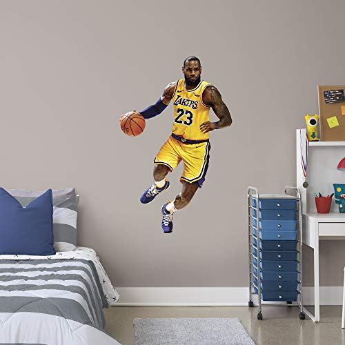 c3e136a71327 FATHEAD NBA Los Angeles Lakers Lebron James Lebron James- Officially  Licensed Removable Wall Decal