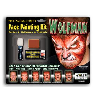 WolfMan Face Painting Kit (Werewolf Makeup For Kids)