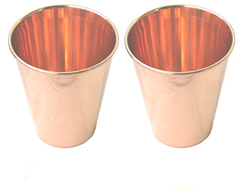 STREET CRAFT Copper Moscow Mule Mint Julep Cup Tumbler 100% Pure Copper Beautifully Smooth Finish With Mold Lip Capacity 12 Oz Set of (Infamous 2 Costumes)