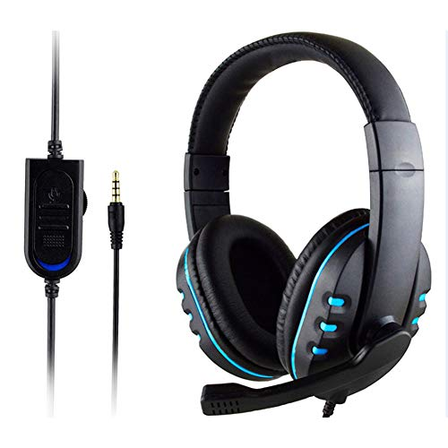 YING Stereo Wired Gaming Headsets Headphones Suitable for PS4 Sony Playstation 4 / PC Gaming Headset Pc