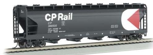- ACF 4-BAY CENTER-FLOW COVERED HOPPER - READY TO RUN -- CANADIAN PACIFIC (BLACK, RED, WHITE, MULTIMARK LOGO)