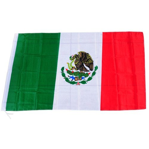 BUYEONLINE Solid Durable Polyester Fabric Mexico Flag For Sport Games Football Match Celebration