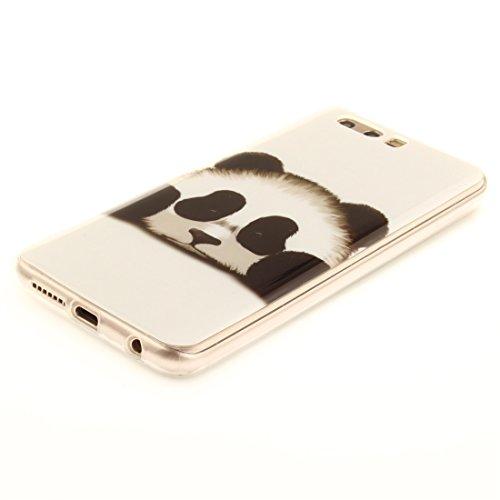Motif Slim De Silicone Fit Cas Peint Cas Souple En De Téléphone TPU Transparent Huawei Arrière panda Protection Antichoc Résistant Couverture Bord P10 Scratch Hozor qFwx7HtP8