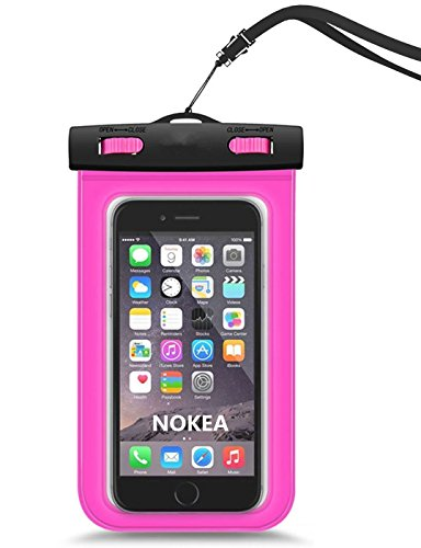 Universal Waterproof Case, NOKEA CellPhone Dry Bag for Apple iPhone 6S 6,6S Plus, SE 5S 7 5C, Samsung Galaxy S7, S6, S5 Note 5 4, HTC LG Sony Nokia Motorola up to 6.0