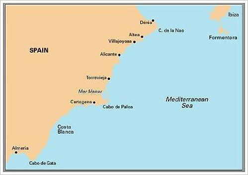 Imray Chart M12: Cabo De Gata to Denia and Ibiza Map – 2001