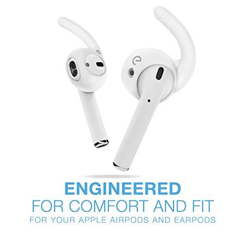 EarBuddyz 2.0 Accesorios y ganchos para la oreja Accesorios compatibles con auriculares Apple AirPods o EarPods /Auriculares /Auriculares (3 pares) (transparente)
