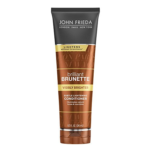 Brilliant Shine Conditioner - John Frieda Brilliant Brunette Visibly Brighter Subtle Lightening Conditioner, 8.3 Ounces