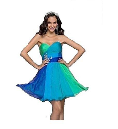 ROBLORA-Vestido de noche de Cóctel formal del vestido de boda de dama de honor light01 azul Corto