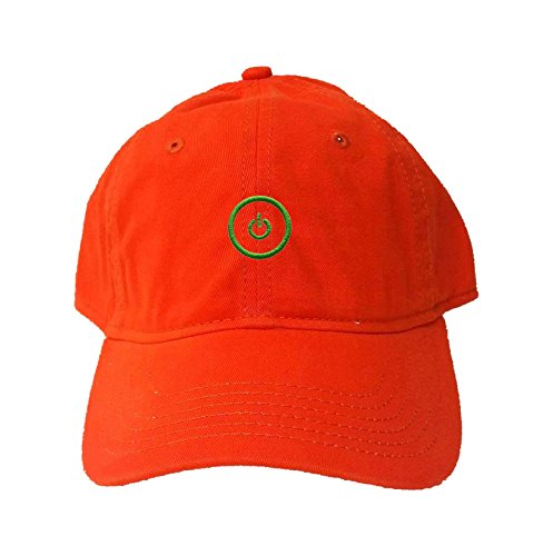 Go All Out Screenprinting Adjustable Orange Adult Gaming Button Embroidered Deluxe Dad Hat (Creeper Orange Embroidered)