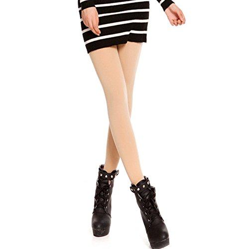 SZTARA Fashion Womens Thick Stirrup Leggings Elastic Slim Skinny Napping Warm Winter Solid Color Tights Full Pencil Pants