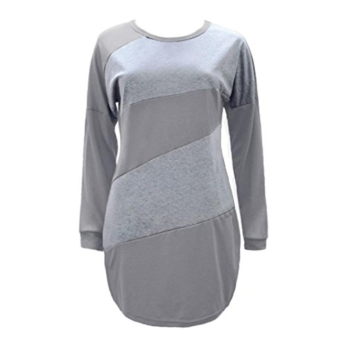 Manches Longues Chemisier Bringbring Gris Dcontract Tops Chemises Long Automne Blouse Cou Ray Femme O 6t11qwE