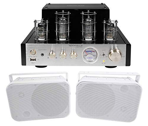 Rockville BluTube Tube Amplifier/Home Theater Bluetooth Receiver+6.5