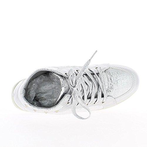 Zapatillas levantamiento plata forradas ciudad de tela