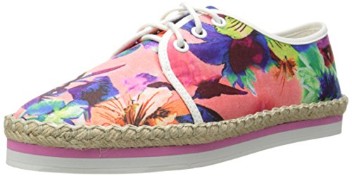 Luichiny Women's Easy Going Oxford, Pink Floral, 8 M (Floral Oxfords)