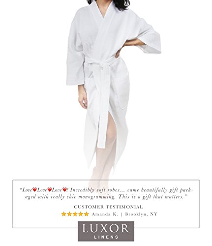 Luxor Linens Waffle Weave Spa Bathrobe - Ciragan Collection - Luxurious, Super Soft, Plush & Lightweight - 100% Egyptian Cotton, Made in Turkey (Single Robe With Gift Packaging, No Monogram) by Luxor Linens (Image #6)