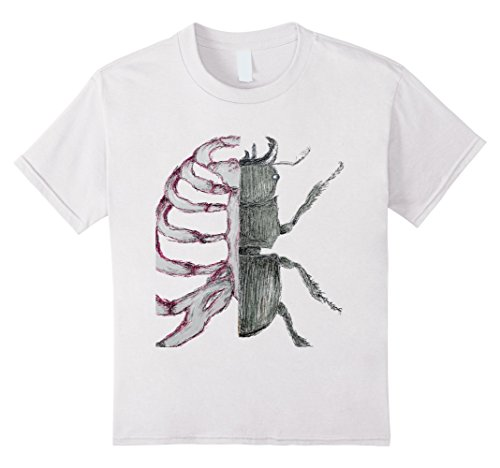 Kids Science Biology Rib Cage Bug Hip Art Bones Thorax T-shirt 10 White (Kids Bug Cage)