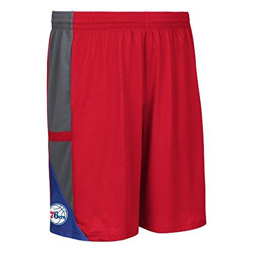 NBA Philadelphia 76ers Men's Tip-Off Mesh Shorts, Xx-Large, Red