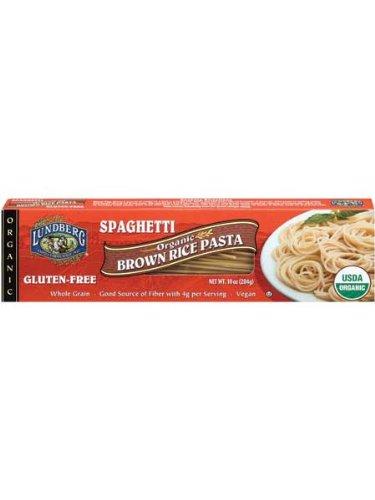 Lundberg Family Farms Organic Brown Rice Pasta, Spaghetti, 10 Ounce (Pack of 6)