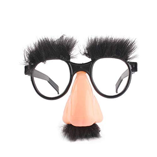 Party Diy Decorations - Halloween Decoration Big Nose Funny Glasses Hair Eyebrow Magician Full Fool Props Holiday Party - Decorations Party Party Decorations Funny Headband Joke Glasses Wi ()