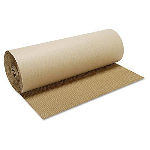 Corrugated Roll (Boardwalk SFB48250 Singleface B-Flute Corrugated Kraft, 48