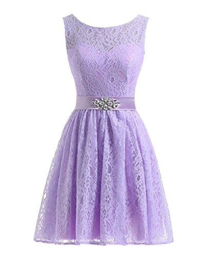 Short for Crystal Dreagel Lavender Party Lace Dress Women Homecoming Bridesmaid Dresses s zYz7qAHwWU