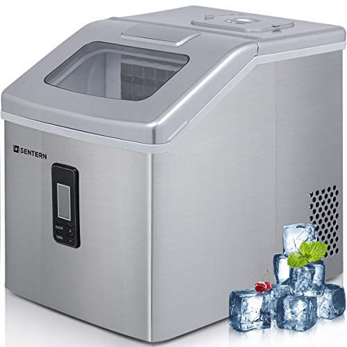 (Sentern Portable Electric Clear Ice Maker Machine Stainless Steel Countertop Ice Making Machine 48 lbs Per Day, Real Clear Ice Cubes, Actual Ice, Crystal Clear Ice - HZB-18F)