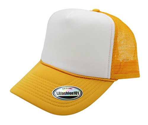 Premium Trucker Cap By LAfashion101 - Modern Urban Style Hat - Adjustable Snap Closure - Unisex Design - Mesh Back - (Costumes Starting With N)
