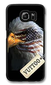 Samsung S6 Case,VUTTOO Cover With Photo: Eagle Eye For Samsung Galaxy S6 - PC Black Hard Case