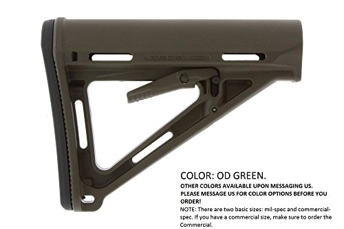 Magpul Industries MOE Rifle Stock, Fits AR-15/M-16, Mil-Spec, OD Green MAG400-OD