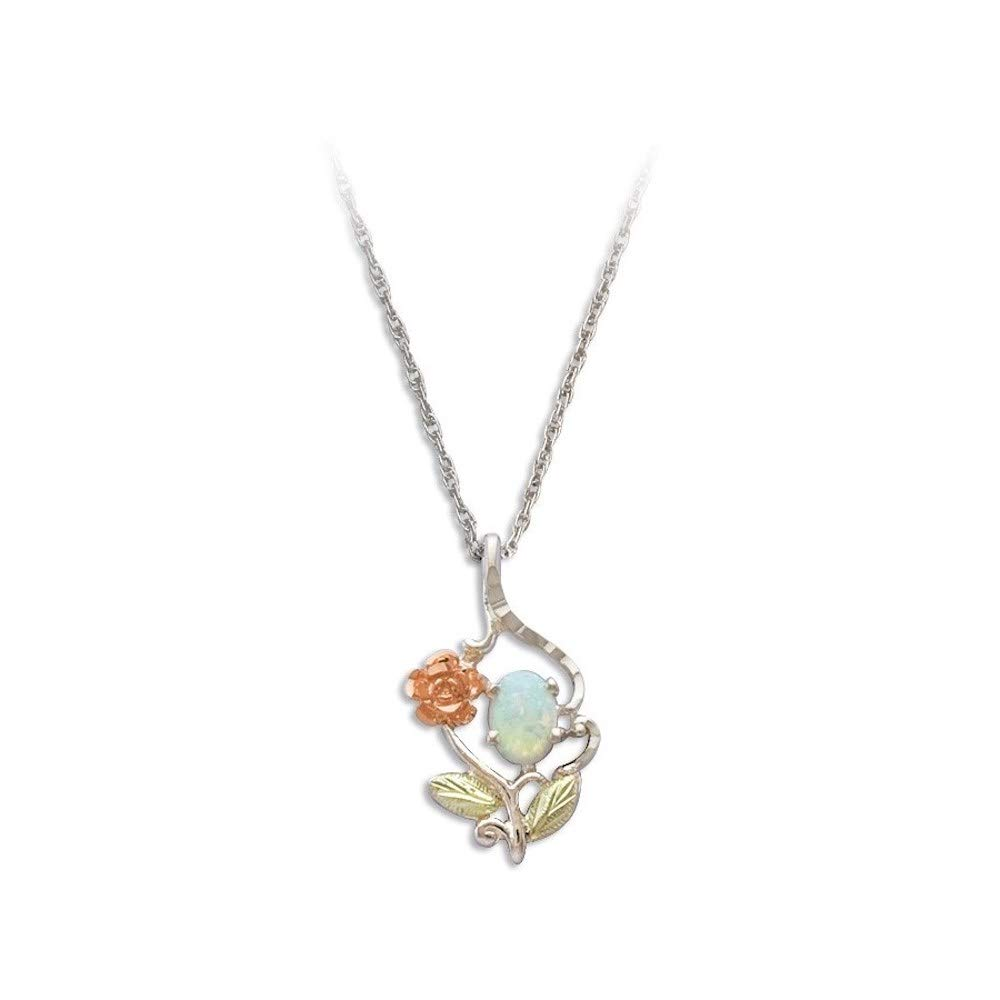 Sterling Silver or Gold Rose Opal Necklace.
