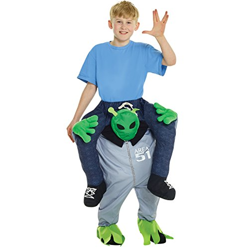 Morphsuits Alien Piggyback Kids Costume, One