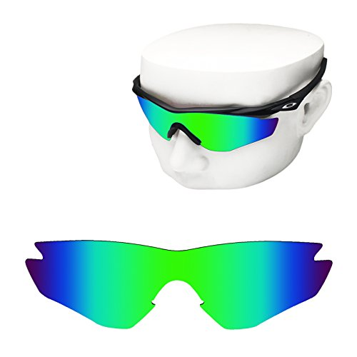 OOWLIT Replacement Sunglass Lenses for Oakley M2 Frame Green Mirror - Frame M2
