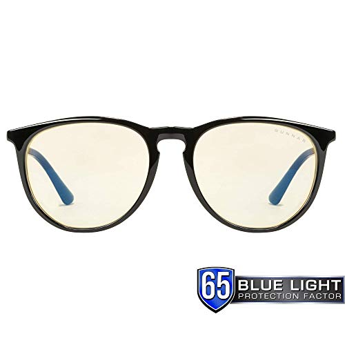 - Gunnar Optiks MEN-00101 Gaming and Computer Eyewear/Menlo - Patented Lens, Reduce Digital Eye Strain, Block 65% of Harmful Blue Light - Amber Lens - PC/ Mac/ Linux