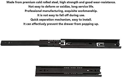 3-Section Rail Ball Bearing Drawer Slides Glides Runners Damping Buffer Soft Close 254.5cm Sliding Door Fittings