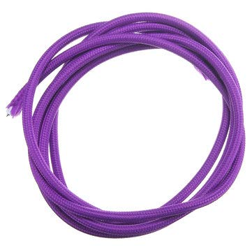 2M 2 Cord Color Vintage Twist Braided Fabric Cable Electric Wire - Lighting Accessories Pendant Light Accessories - (Purple) - 1 x LED Neon Light, 1 x End cap, 1 x Power cord, 2 x Clip, 2 x 2-pin conn