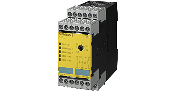 Monitored Start 45mm Width Siemens 3TK28 27-1AL21 Safety Relay 1 NC Signal Contacts 2 NO 2 NO Enabling Contacts For Emergency Stop and Protective Doors 2 NO 2 NO Enabling Contacts Screw Terminals 1 NC Signal Contacts 45mm Width 230VAC Rated Vo